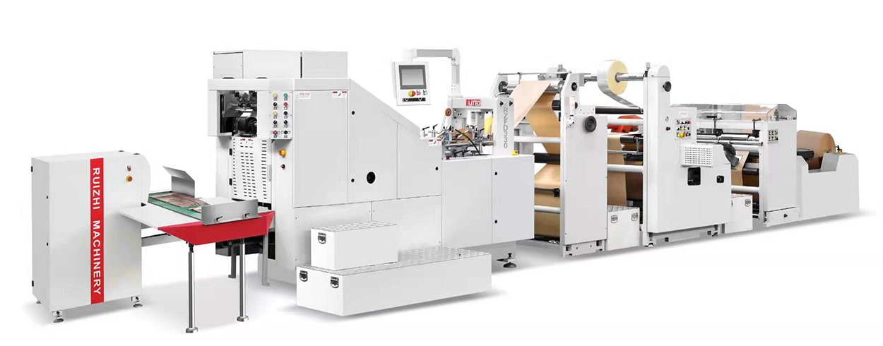 Automatic High Speed Square Bottom Paper Bag Machine With Window
